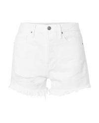 Frame Rigid Re Release Le Original Distressed Denim Shorts
