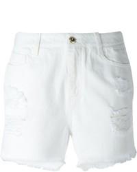 Ermanno Scervino Ripped Slim Fit Denim Shorts