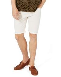 Topman Slim Fit Cutoff Denim Shorts