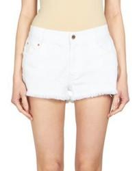 Stella McCartney Star Print Denim Cut Off Shorts