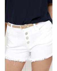Blank NYC Wedge Blush Denim Shorts