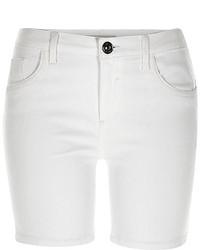 River Island White Amelie Denim Shorts