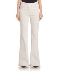 White Denim Wide Leg Pants