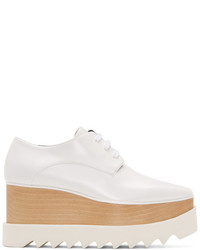 Stella McCartney White Elyse Platform Derbys