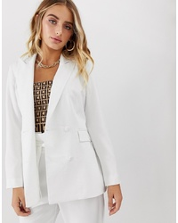 Missguided Co Ord Tailored Blazer In White