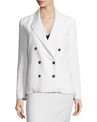 CNC Costume National Costume National Double Breasted Slim Fit Jacket White