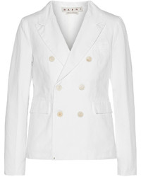 Marni Cotton And Linen Blend Twill Blazer