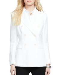 Lauren Ralph Lauren Double Breasted Canvas Blazer