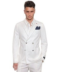 Mens White Double Breasted Suit - Hardon Clothes