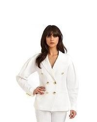 Moschino Double Breasted Blazer Cream