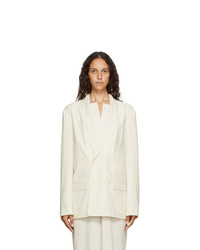 Lemaire Off White Double Breasted Blazer