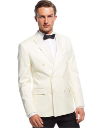 Ryan Seacrest Distinction Off White Double Breasted Dinner Jacket