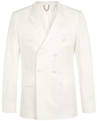 Topman White Double Breasted Skinny Fit Tux Jacket