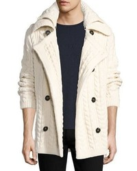 Burberry Neyland Double Breasted Cable Knit Cardigan