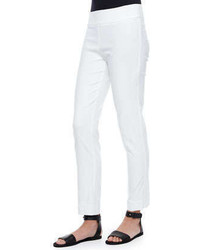 Katherine Barclay Ankle Slim Pants White