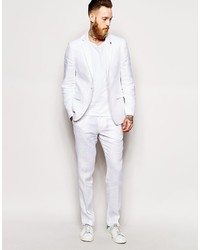 Asos Brand Slim Fit Suit Cropped Suit Pants In 100% Linen | Where ...