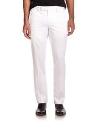 Emporio Armani Clean Front Cotton Pants