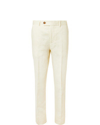 Brunello Cucinelli Cream Linen Suit Trousers