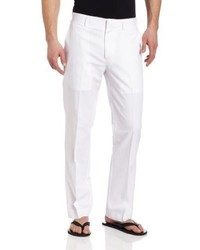 Cubavera Linen Cotton Herringbone Textured Pant