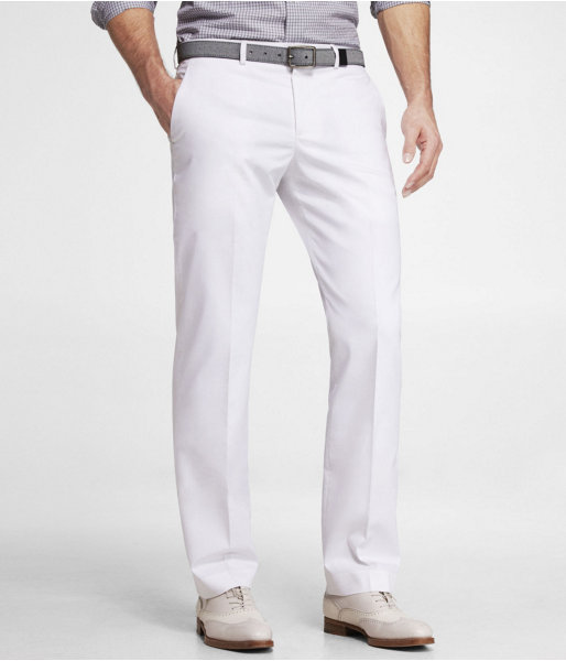 Express White Cotton Sateen Photographer Suit Pant | Where to buy ...