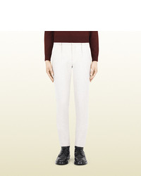 Gucci White Wool Riding Pant