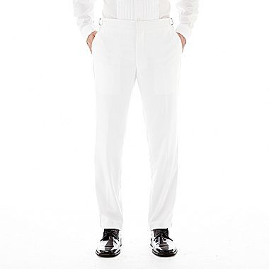 jcpenney The Savile Row Co Saville Row White Tuxedo Pants Slim Fit ...
