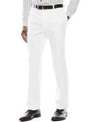 JF J.Ferrar Jf J Ferrar White Suit Pants Slim Fit
