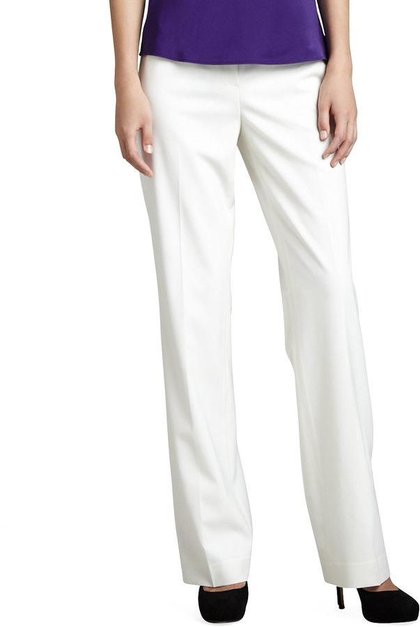 Lafayette 148 New York Wear Pants Winter White | Where to buy ...