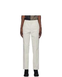 Maison Margiela Off White Corduroy Trousers