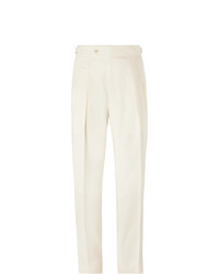 Richard James Pleated Wool Blend Trousers