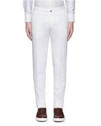 Incotex Slim Fit Cotton Linen Chinos