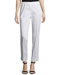 Lafayette 148 New York Slim Leg Ankle Pants White