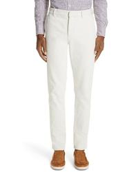 Ermenegildo Zegna Solid Cotton Trousers