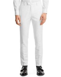 Kenneth Cole Reaction Tab Front Slim Fit Herringbone Pants
