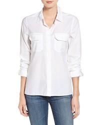 AG Jeans Ag Ace Split Hem Cotton Shirt