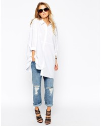 Longline White Shirt Womens | Is Shirt