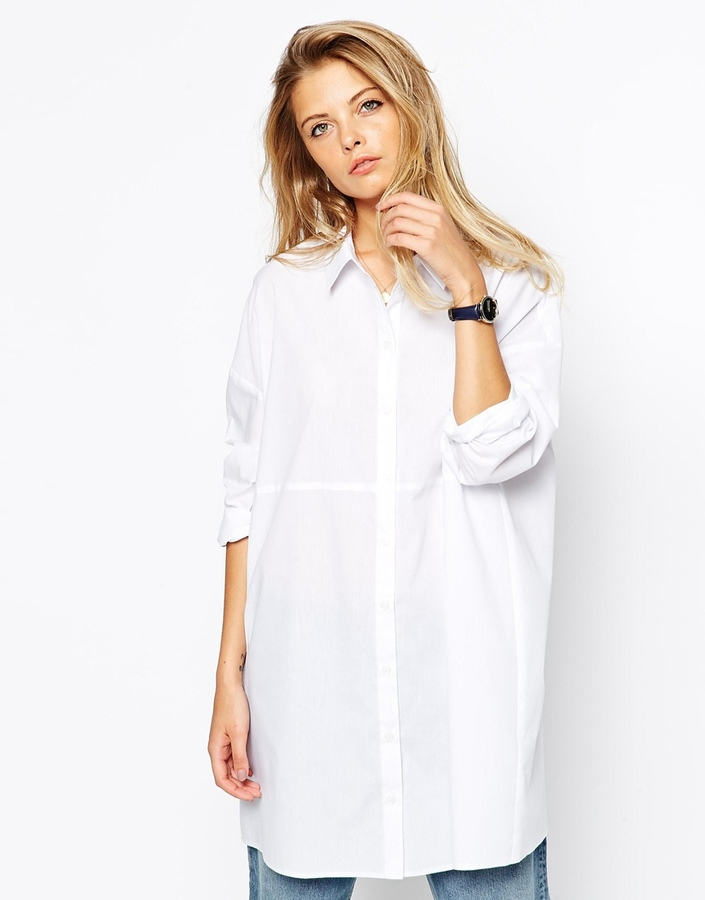 White Oversized Shirt Womens | Is Shirt