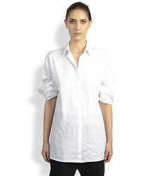 Haider Ackermann Asymmetrical Button Front Shirt