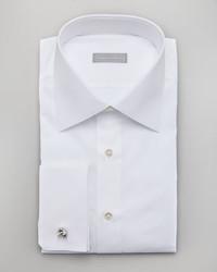 Stefano Ricci Basic French Cuff Dress Shirt White
