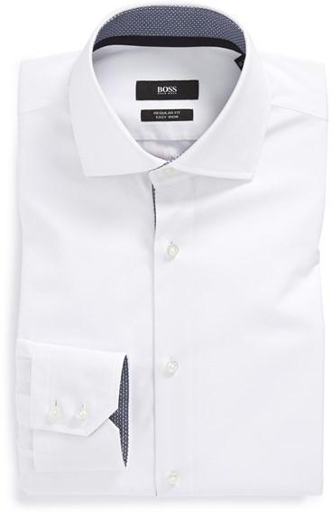 183fa1d0 ... Hugo Boss Boss Eraldin Ww Regular Fit Easy Iron Solid Dress Shirt ...