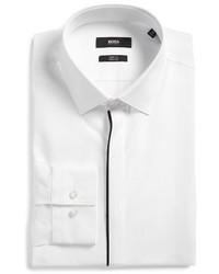 BOSS Jamis Slim Fit Solid Dress Shirt