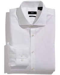 1fbcd834c Men's White Dress Shirts by Hugo Boss | Men's Fashion | Lookastic.com