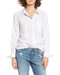 Cotton Blend Button Down Shirt
