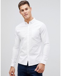ASOS DESIGN Casual Skinny Oxford Shirt In White