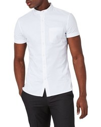 Topman Classic Fit Stand Collar Oxford Shirt