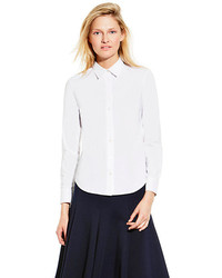 Vince Camuto Classic White Collared Button Down Shirt