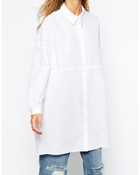 076c9558651482 ... Asos Collection Oversized Longline White Shirt ...