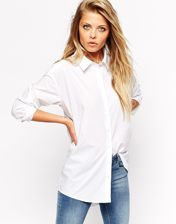 Asos Collection Smart Boyfriend White Shirt | Where to buy & how ...