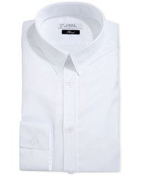 Versace Collection Tonal Stripe Cotton Dress Shirt White