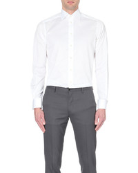 Eton Contemporary Fit Double Cuff Cotton Shirt